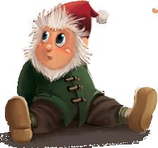 Pettikin Character - sitting down